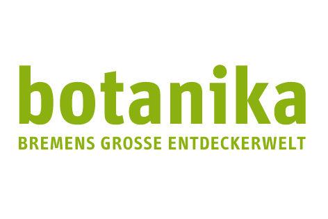 """Das Bild zeigt das Logo der """"botanika"""", Bremens große Entdeckerwelt."""