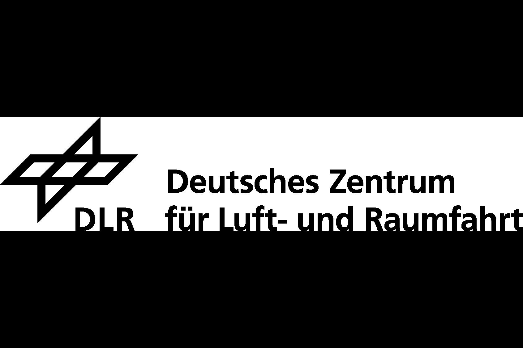 Auf dem Bild ist das Logo vom Deutschen Zentrum für Luft- und Raumfahrt, kurz DLR, zu sehen.