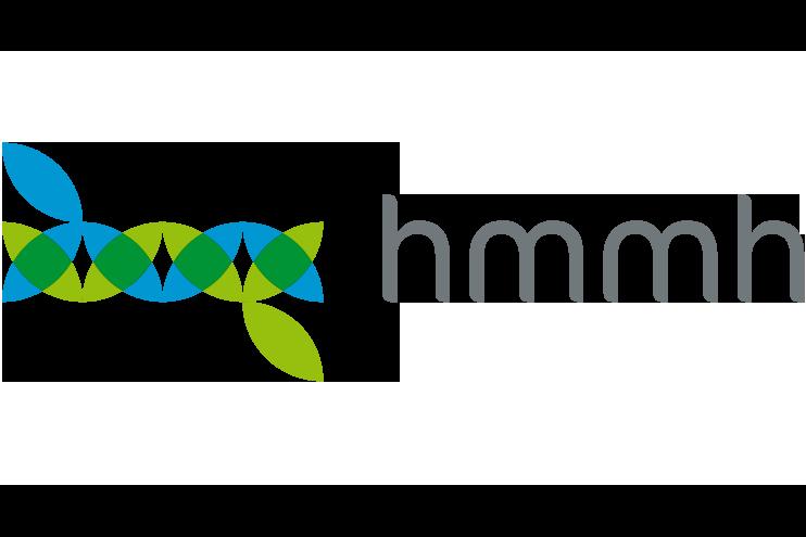 Auf dem Bild sieht man das Logo des hmmh Multimediahauses
